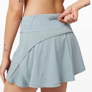 "Lululemon Play Off The Pleats Skirt *13"" Blue Cast"